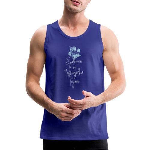 Sydämeni On Sininen - Miesten premium hihaton paita