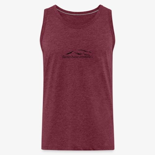 SUP logo musta - Miesten premium hihaton paita
