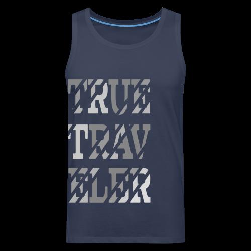 True Traveler Grey design - Miesten premium hihaton paita