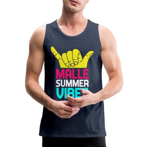MALLE Summer Vibes, Party Urlaub Spanien Mallorca - Männer Premium Tank Top