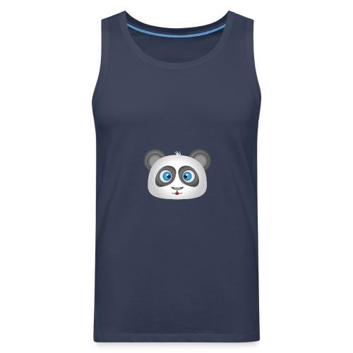 panda head / cabeza de panda 2 - Tank top premium hombre