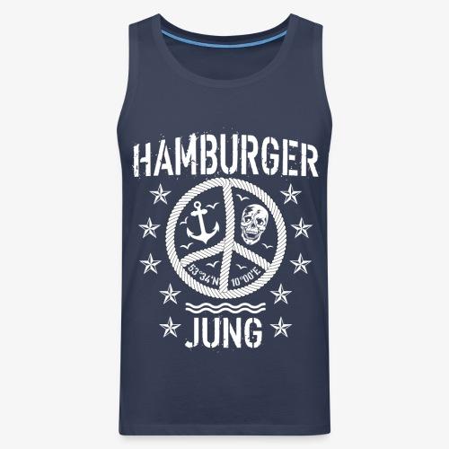 96 Hamburger Jung Peace Friedenszeichen Seil - Männer Premium Tank Top