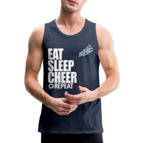 eat sleep cheer - Männer Premium Tank Top