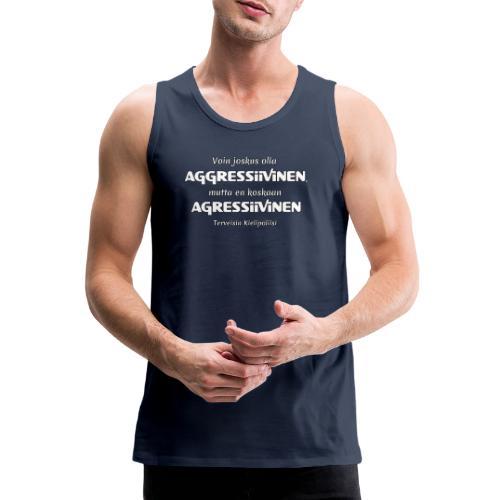 Aggressivinen kielipoliisi - Miesten premium hihaton paita