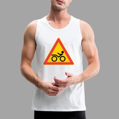 Traffic sign Recumbent - Miesten premium hihaton paita