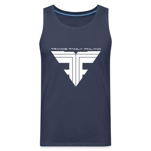 TFF Logo White - Miesten premium hihaton paita