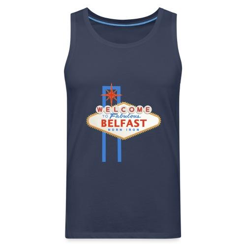 Belfast - Vegas sign - Men's Premium Tank Top