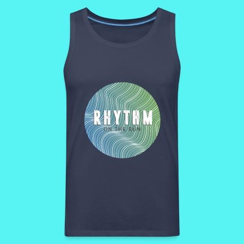 Rhythm On The Run Logo - Men's Premium Tank Top