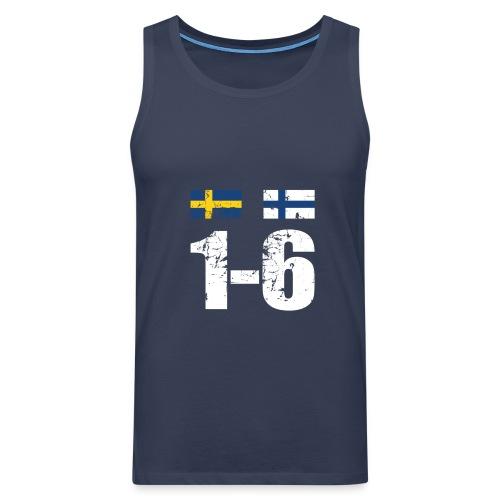 1-6 Sveden Finland grunge - Miesten premium hihaton paita