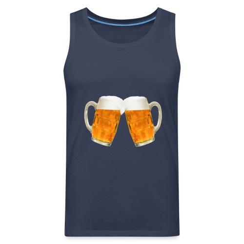 Zwei Bier - Männer Premium Tank Top