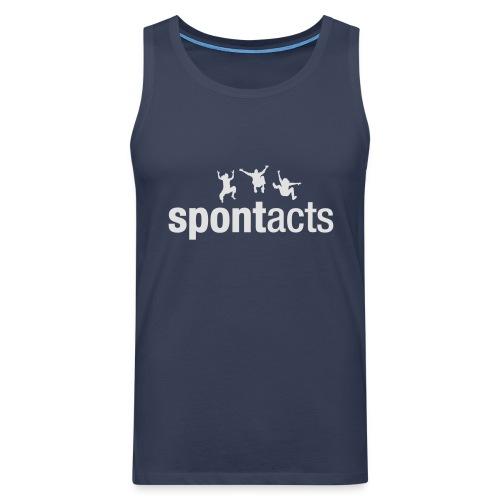 spontacts_Logo_weiss - Männer Premium Tank Top