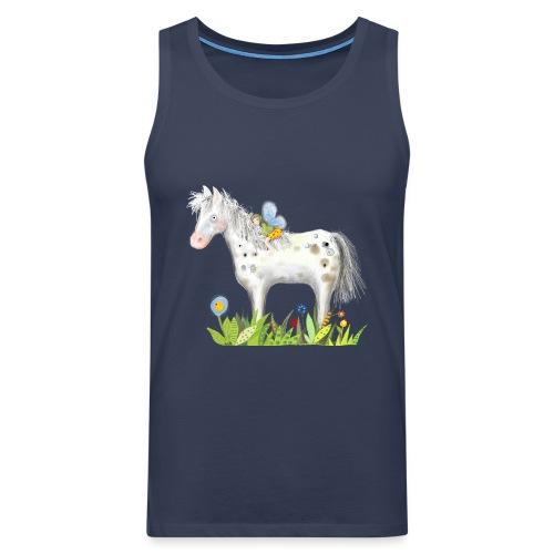 Fee. Das Pferd und die kleine Reiterin. - Männer Premium Tank Top