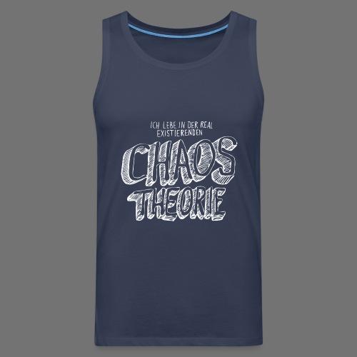 Chaos Theory (valkoinen) - Miesten premium hihaton paita