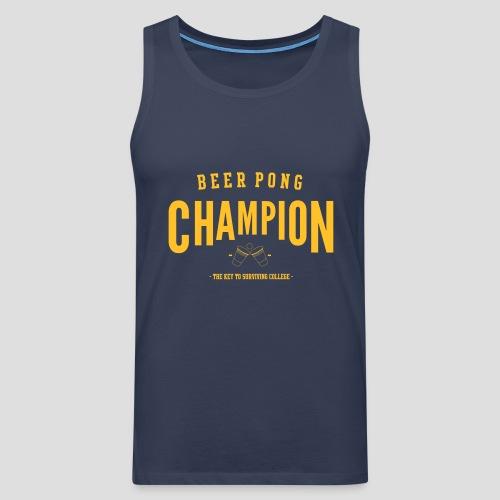 Beerpong Champion T-Shirt - Männer Premium Tank Top