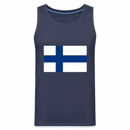 Suomenlippu - tuoteperhe - Miesten premium hihaton paita