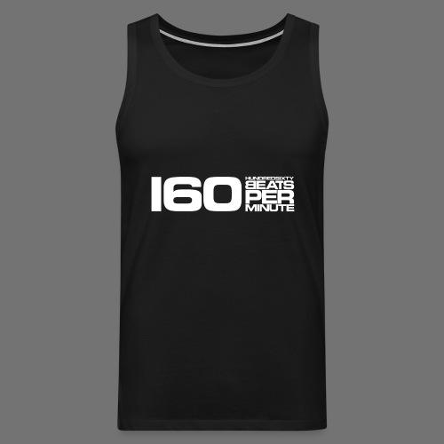 160 BPM (valkoinen pitkä) - Miesten premium hihaton paita