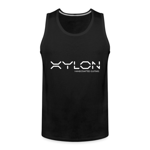 Xylon Handcrafted Guitars (name only logo white) - Men's Premium Tank Top