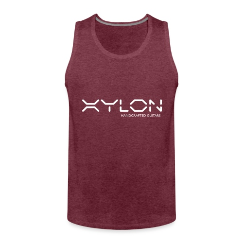 Xylon Handcrafted Guitars (name only logo white) - Men's Premium Tank Top