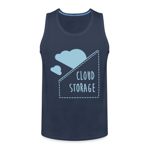 Cloud Storage - Männer Premium Tank Top