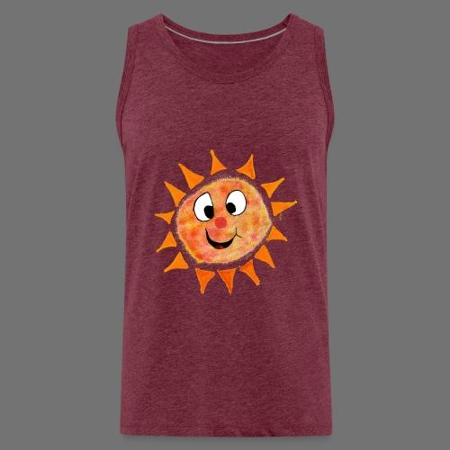 Aurinko - Miesten premium hihaton paita
