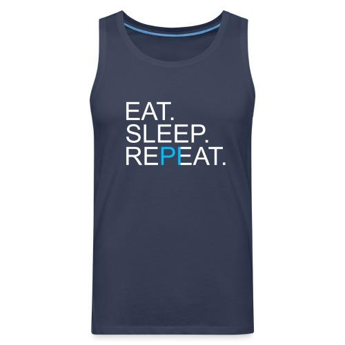Eat Sleep Repeat PI Mathe Dunkel - Männer Premium Tank Top