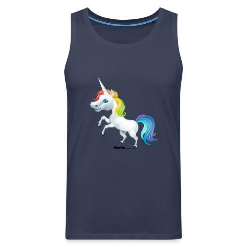Rainbow yksisarvinen - Miesten premium hihaton paita