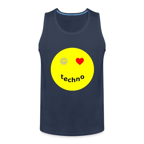 camiseta paz amor techno - Tank top premium hombre