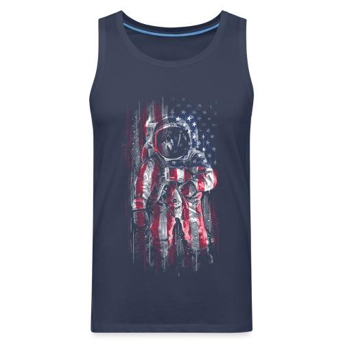 Astronaut Flag - Men's Premium Tank Top