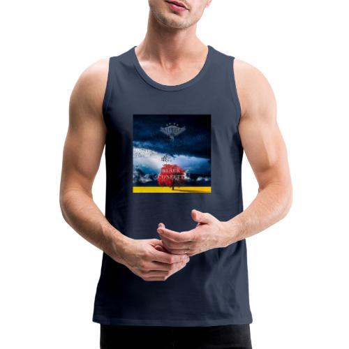 Black Confetti Promo Design - Men's Premium Tank Top