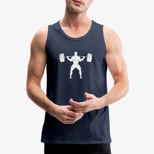 Lift Heavy White - Men's Premium Tank Top