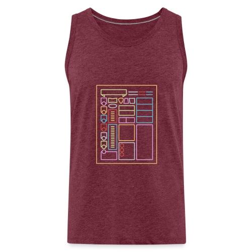 Dnd-merkkilehti - DnD Dungeons & Dragons D & D - Miesten premium hihaton paita