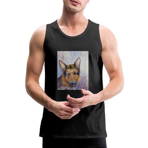 german shepherd wc - Herre Premium tanktop