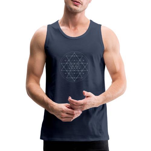 Harmaa geometrinen Shri Yantra -kuvio - Miesten premium hihaton paita