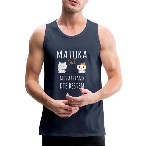 Matura 2021 Schule Corona Katze Shirt Geschenk - Männer Premium Tank Top