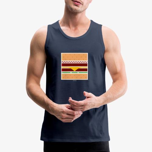 Square Burger - Canotta premium da uomo