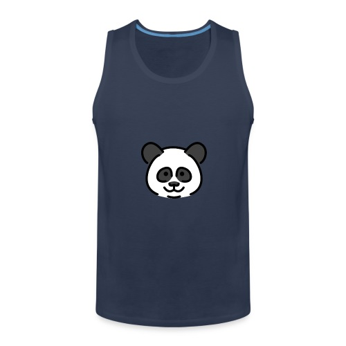 panda head / cabeza de panda - Tank top premium hombre