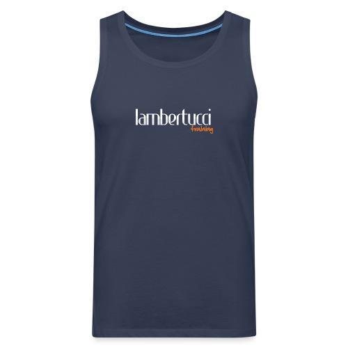 Logo Lambertucci neg web - Männer Premium Tank Top