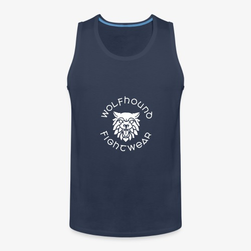 logo round w - Men's Premium Tank Top