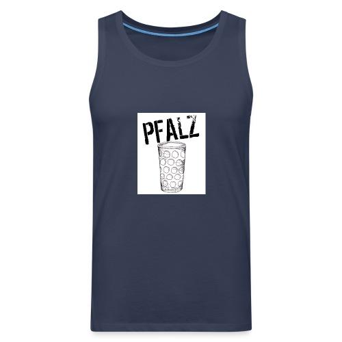 Pfalzshirt mit Dubbeglas, weiß - Männer Premium Tank Top