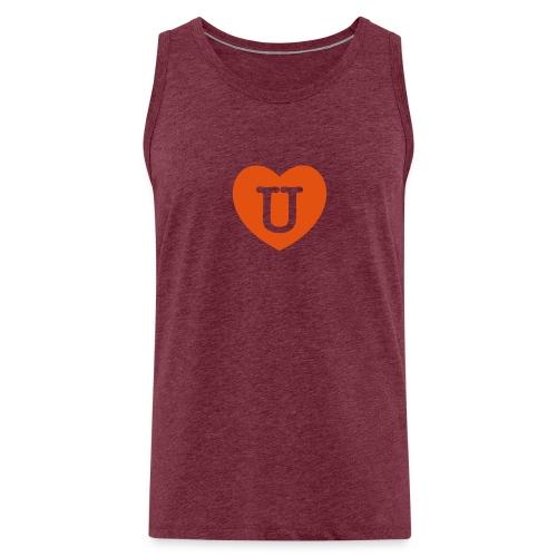 LOVE- U Heart - Men's Premium Tank Top