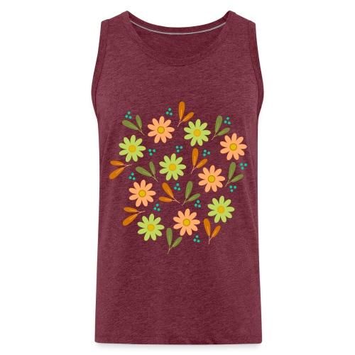 Blumen Muster - Männer Premium Tank Top