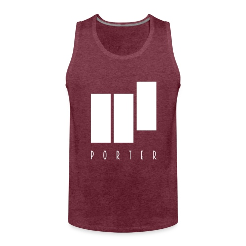 PORTER Sign White - Männer Premium Tank Top