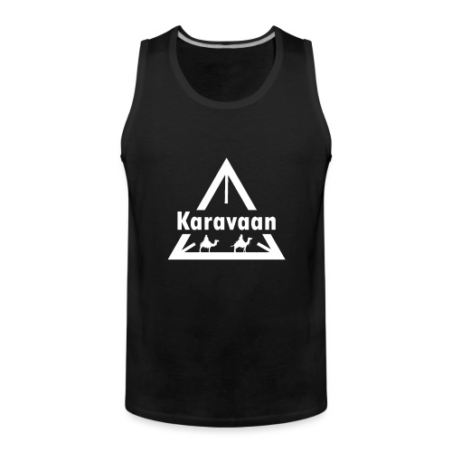 Karavaan White (High Res) - Mannen Premium tank top