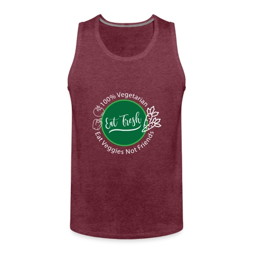 Gezond eten vegetarische t-shirt - Mannen Premium tank top