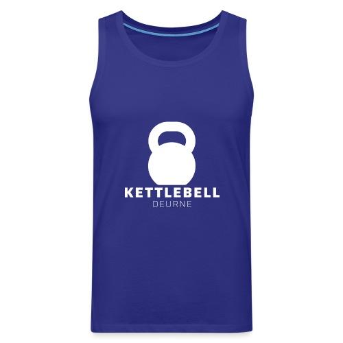 Kettlebell Deurne Wit Logo - Mannen Premium tank top