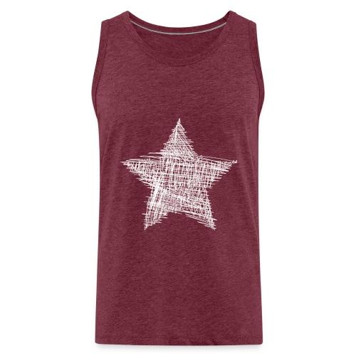 Estrella blanca - Tank top premium hombre