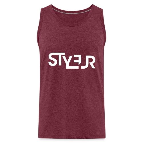 styleur logo spreadhsirt - Männer Premium Tank Top