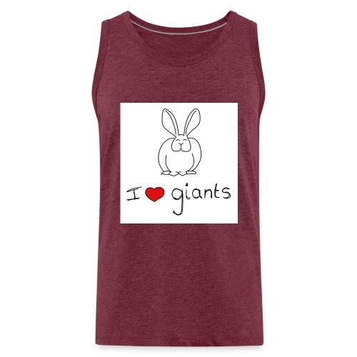 I Love Giants - Men's Premium Tank Top