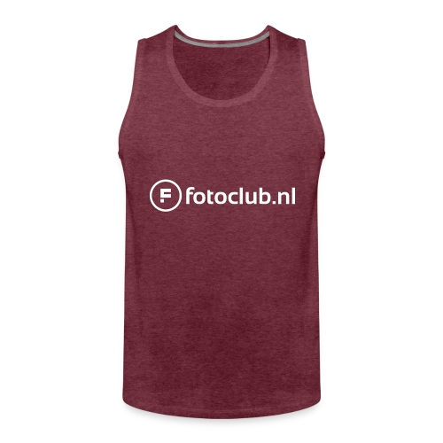 Logo Wit Fotoclublnl - Mannen Premium tank top
