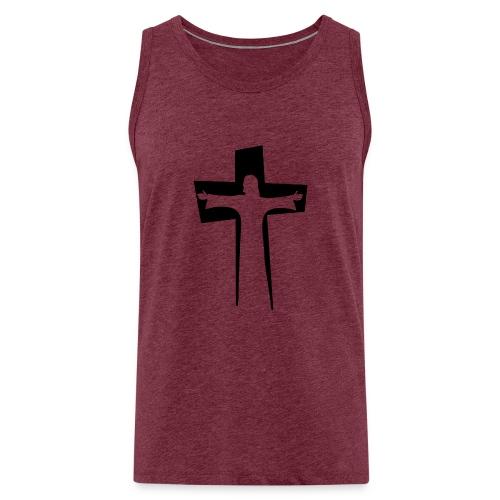 Abstrakt Jesus på korset - Premiumtanktopp herr